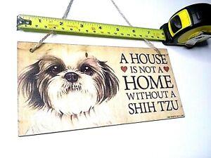 PAWS-2-TAIL Wooden Dog Sign - Brand NEW - SHIH TZU - UK SELLER