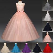 Mädchen Kinder Kleid Hochzeit Abendkleid Kommunionkleid Festkleid Blumen kleid
