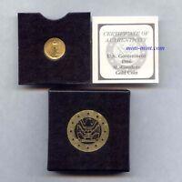 1986 1/10th oz  $5 Gold American Eagle Bullion, First Year w Box & Certificate
