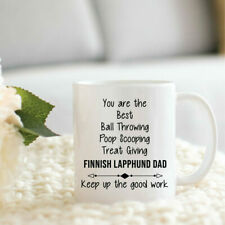 Finnish Lapphund Dad Gifts Funny Finnish Lapphund Dad Cup Christmas Present For