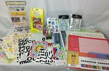 Huge Lot SCRAPBOOKING Cardstock Paper Stickers Ribbon Hello Kitty