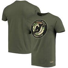 New Jersey Devils Mitchell & Ness Military Appreciation Night Logo T-Shirt -