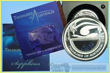 "2007 Treasures of Australia ""Sapphires"" 1oz. Silver Proof"