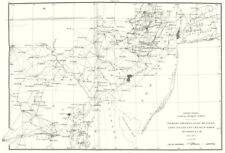 PENNSYLVANIA NEW JERSEY. USCGS triangulation Long Island to Blue Ridge 1881 map