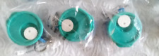 Three Tupperware Crystalwave Soup Mug Keychains Collectible Blue & Teal New