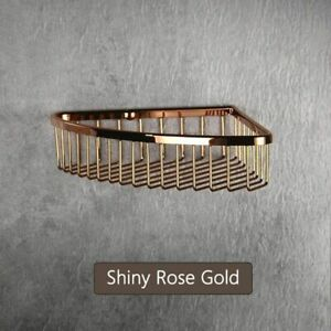 Wall Mounted Type Corner Shelf For Bathroom Single Tier Stainless Steel Material
