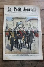 Petit journal dibujada Nº919 1908 Cruppi Revoil Alfonso XIII Piqueteros Belga