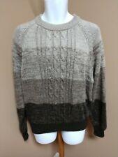 Barnaby Sweater Men'S Xl Brown Stripes Vintage Acrylic Crewneck