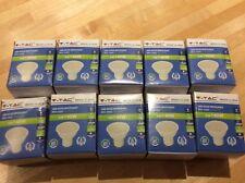 10 x V-TAC 5W (320Lumen} LED GU10 SPOTLIGHT WARM WHITE  3000k SKU-1685