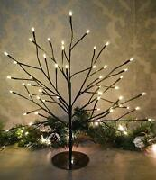 45cm Rustic Shabby Chic Birch Twig Christmas Tree Pre-lit With 48 Warm White LED
