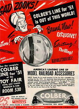 1951 ADVERT Colber Corp Minitoys Toy Model Railroad Accessories