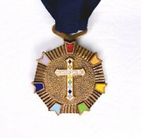 VINTAGE Masonic GRAND CROSS OF COLOR Rainbow order for GIRLS MERIT BADGE
