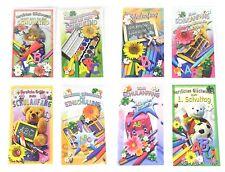 8 stück Einschulung Einschulungskarten Schulanfang Glückwunsch Karten MIX NEU