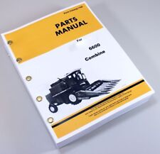 Parts Manual For John Deere 6600 Combine Catalog Assembly Explode Views