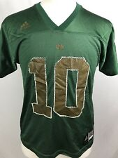 Adidas Boys Football Jersey Size Youth Large Short Sleeve Green and Bronze (T