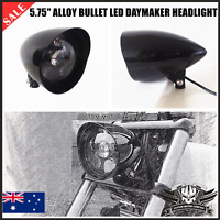 "5 3/4"" gloss black LED daymaker headlight Harley FXDWG FXWG DYNA FXD FAT BOB XLH"