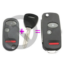 2+1 Button Folding Remote Key Shell Case Fob for Honda Accord CRV Civic Pilot