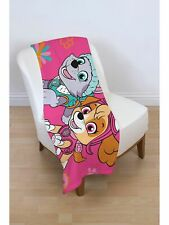 Paw Patrol 'Forever' Panel Fleece Blanket Throw Brand New Gift Official