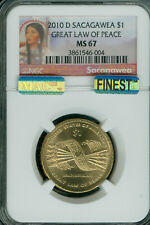 2010-D SACAGAWEA DOLLAR NGC MS67 PQ MAC FINEST BUSINESS STRIKE MAC SPOTLESS *