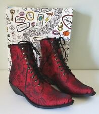 """NEW JEFFREY CAMPBELL FOR FREE PEOPLE """"ELMCROFT"""" LACE-UP ANKLE BOOTS SZ 6.5 M"""