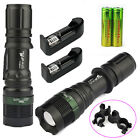 2Sets UltraFire CREE 6000LM LED Zoom Flashlight Torch +18650 +Charger +Clip USA