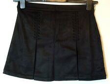 Forever 21 Twenty One Faux Suede Whip Stitch Skirt 8/10 Uk BNWT RRP £23.95 Black