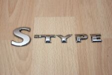 "BOOT BADGE ""S-TYPE"" - Jaguar S-Type 2002-2007"