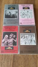 THE THREE STOOGES  - LARRY, CURLY & MOE  4 X VHS VIDEO'S