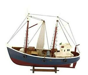 Decorative Kutter- Fischkutter- Display Model Made From Wood 18 1/8in