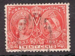 Sc# 59 - Canada - 20 Cent - 1897 Diamond Jubilee - Used - superfleas - cv $250