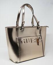 New NWT (small defect) Guess Laken Logo Metallic Rose Gold Handbag Tote Satchel