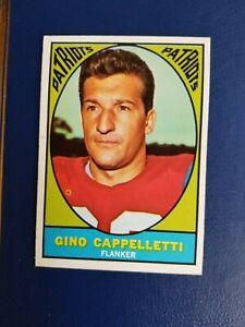 1967 TOPPS #3 GINO CAPPELLETTI BOSTON PATRIOTS HI GRADE NEAR MINT  GROBEE1957