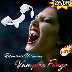 Halloween Party Cosplay Vampire Fangs Retractable Teeth Dress Costume Tooth Gift