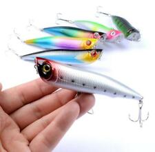 """6PCS Big Popper Fishing Lures 4.13""""/16.5g Floating Topwater Popper Wobblers"""