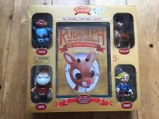Rudolph the Red-Nosed Reindeer & 4 Talking Figures Anniversary Box Set NEW!