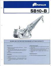 Equipment Brochure - Fiat-Allis - SB10-B Side Boom Crane Hoist - c1978  (E4114)
