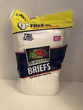 Vintage 7 Pack Men's Briefs Fruit of the Loom White Underwear 1999 NEW XL 42-44