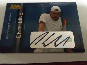Signed Tennis On The Line Card Alexander Waske