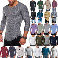 Men's Long Sleeve Slim Fit T Shirt Sweatshirt Sweater Pullover Jumper Casual Top