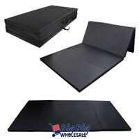 "Black 4'x8'x2"" Thick Folding Gymnastics Mat Exercise Fitness Yoga Stretching Pad"