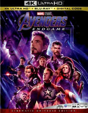 Authentic Marvel Avengers Endgame End Game 4K Blu-ray Digital Code & Slipcover