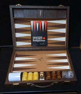 Vintage 1975 Crisloid Backgammon Suitcase Set w/Bakelite Checkers Complete VGC