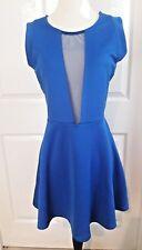 Marilyn Monroe dress Lot Cut Sheer M medium blue mesh sexy back sleeveless