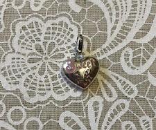 NEW Brighton Sweet 16 Heart Clip Charm w/Enamel & Swarovski