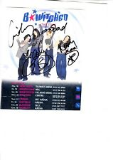 BEWITCHED HAND SIGNED TOUR FLYER SIGNED BY ALL THE MEMBERS OF THE GROUP