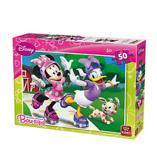 50 Piece Disney Jigsaw Puzzle Minnie Mouse & Daisy Duck - Rollerskating 05147B