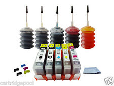 5 Refillable ink cartridge for HP 564 XL Photosmart D5460 D7560+5x30ml 1P W/Chip