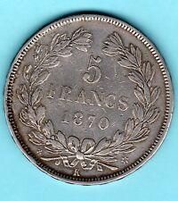 VARIETE RARE 5 FRANCS CERES SANS LEGENDE 1870 K