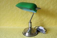 Lampe Bankerlampe Tischlampe Glas grün