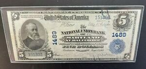 1905 $5 National Currency Maryland at Baltimore